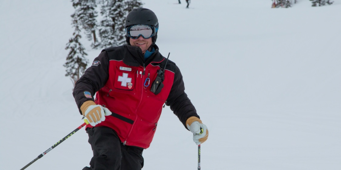 A ski happy ski patroller.