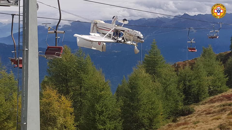 italy, alps, plane crash, chairlift