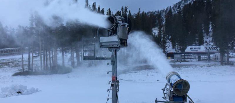 snow guns, snowmaking, mt rose ski Tahoe, nevada