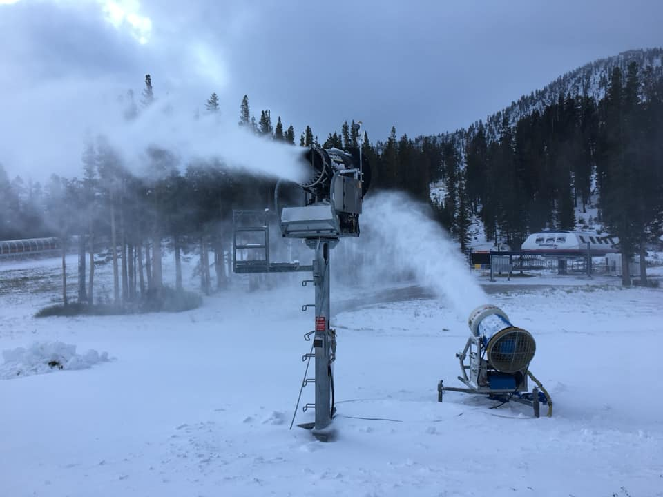 snowguns, snowmaking, mt rose ski Tahoe, nevada