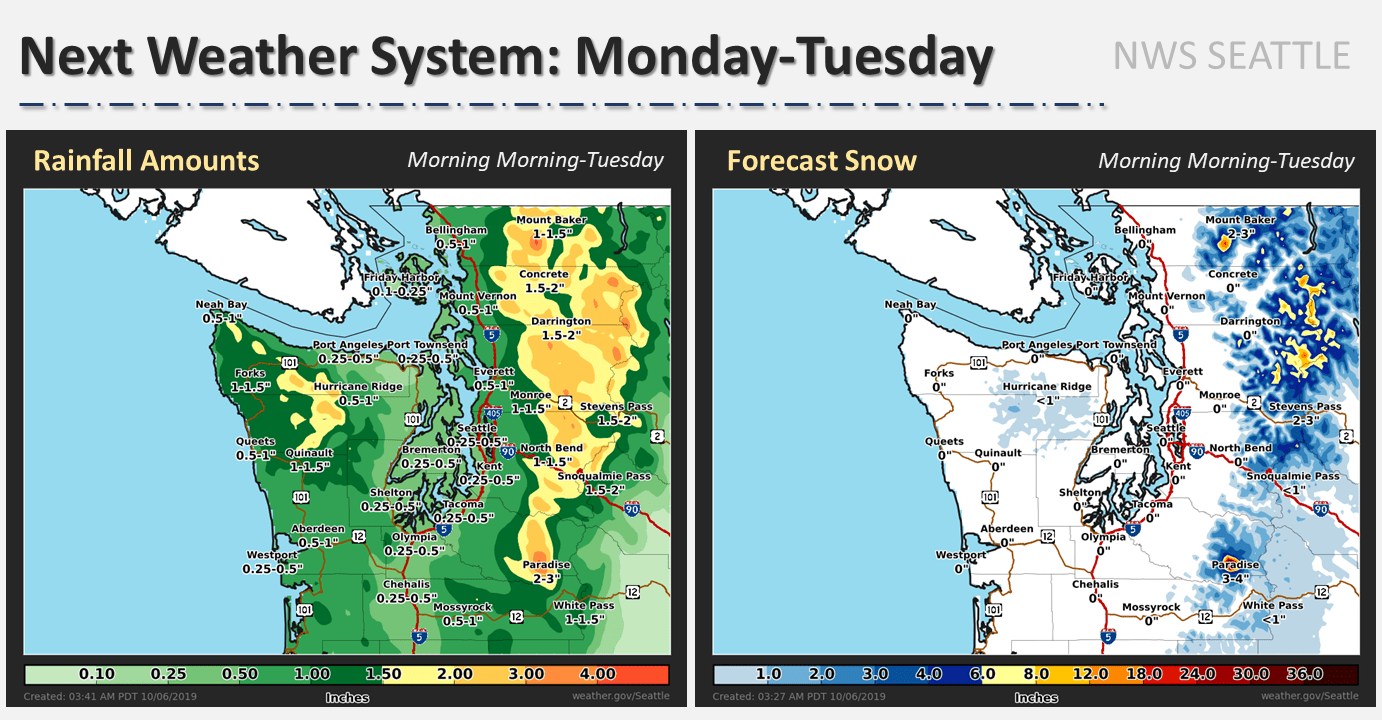 snow, forecast, mount baker, Washington,