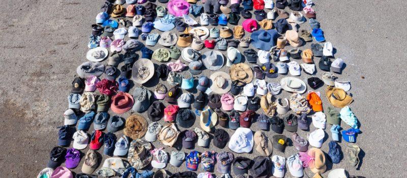 Yellowstone, hats, litter,