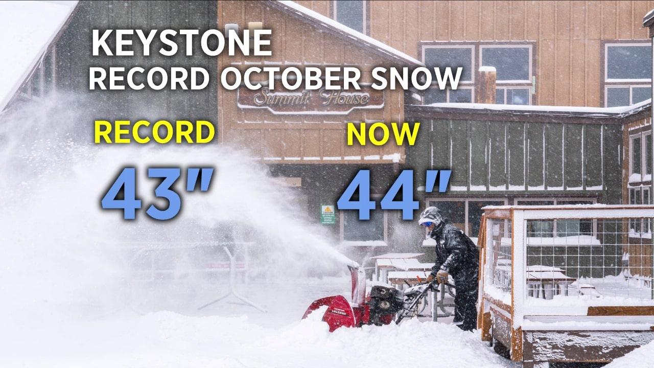 colorado, record October snow,