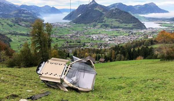 gondola, cabin, fell, Switzerland, europe