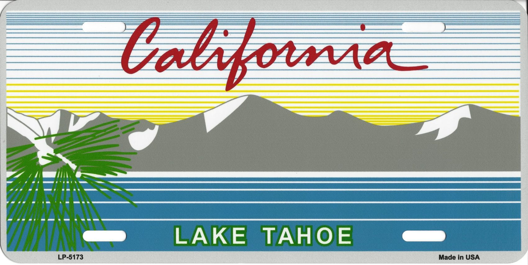 Free ski lift ticket with the purchase of a Tahoe License plate.