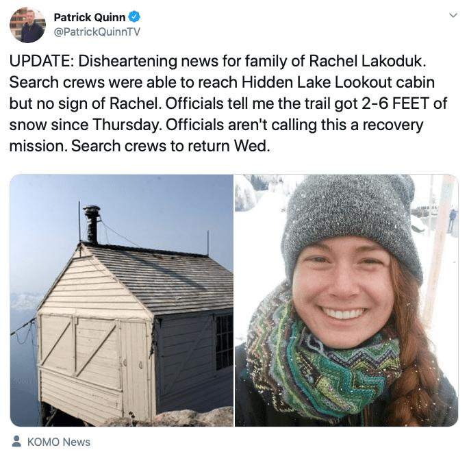 missing, washington, cascades, Rachel Lakoduk