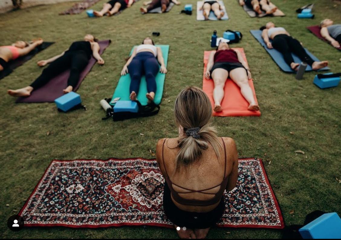 Shred Fest yoga seminar.