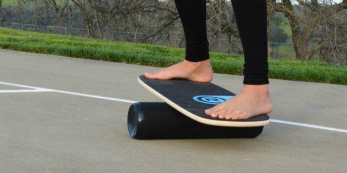 Girl on balance board