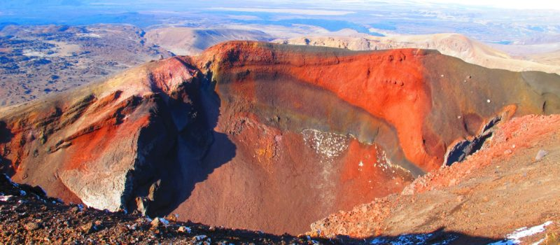 Red Crater, Tongariro National Park, New Zealand, tourist died