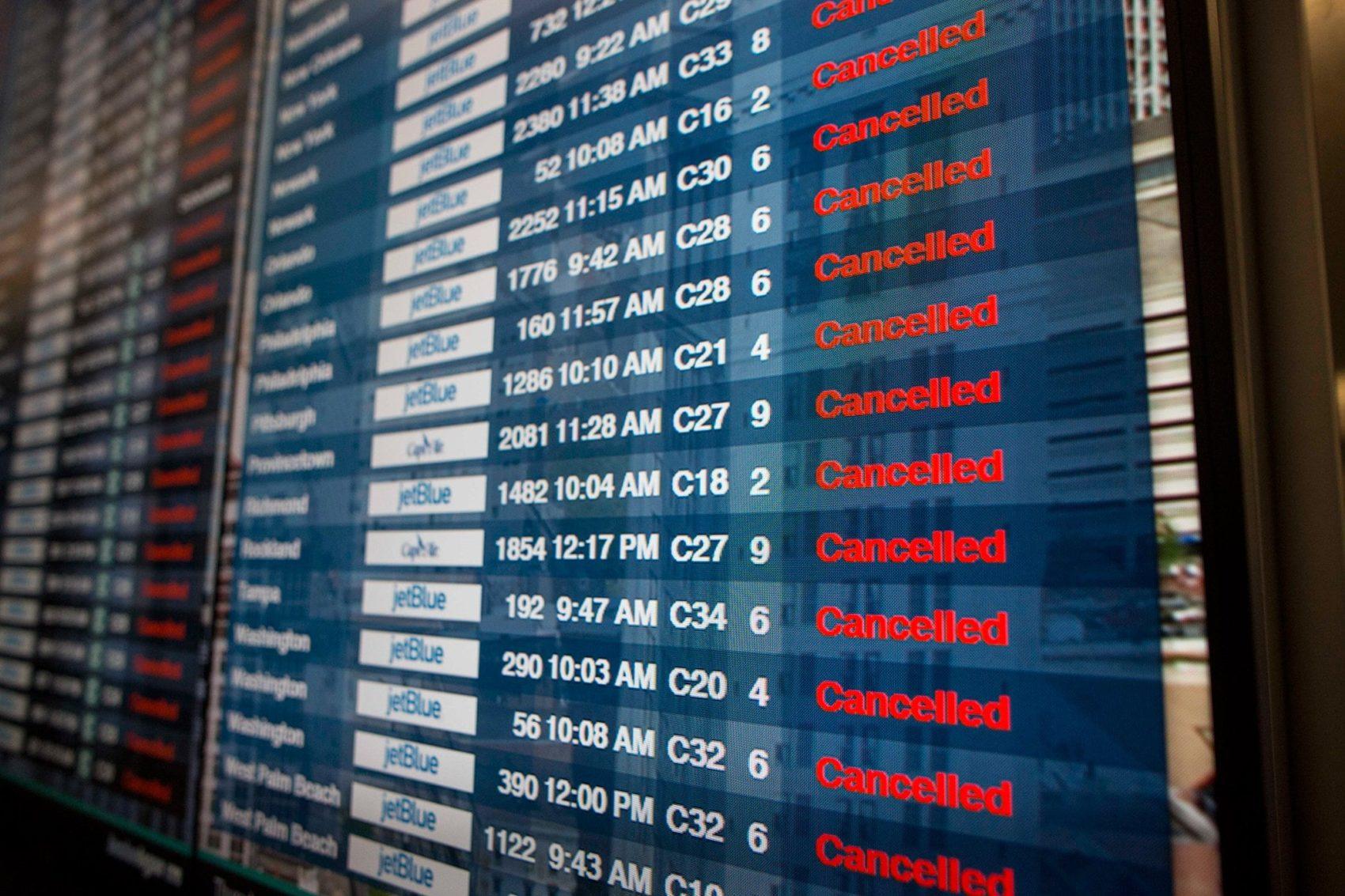 Denver, colorado, flights canceled, storm
