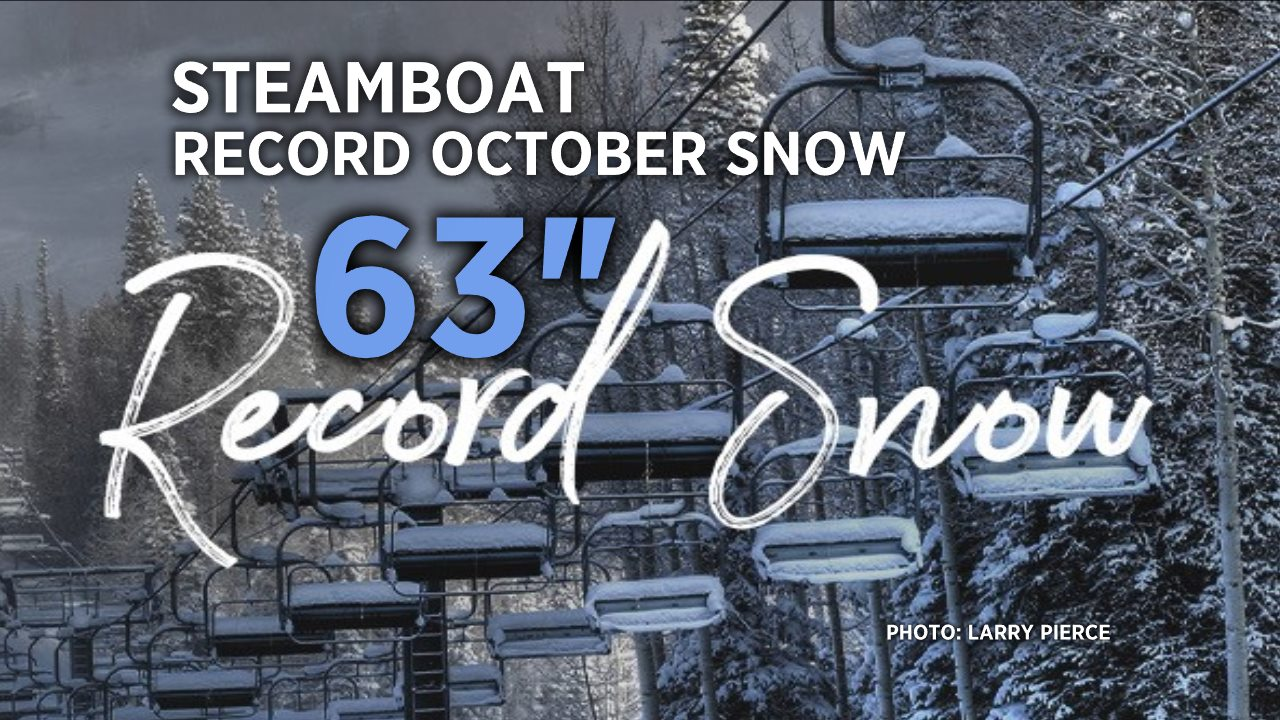 steamboat, colorado, record October snow, 5 feet