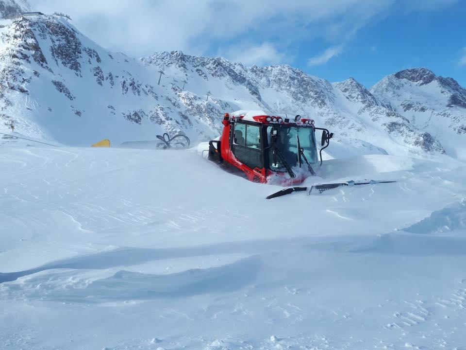 Stubai, alps, snowfall