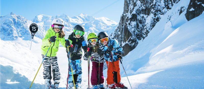 skiing, children, helmets