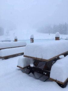 Snow accumulation at Lake Louise, Nov 2019
