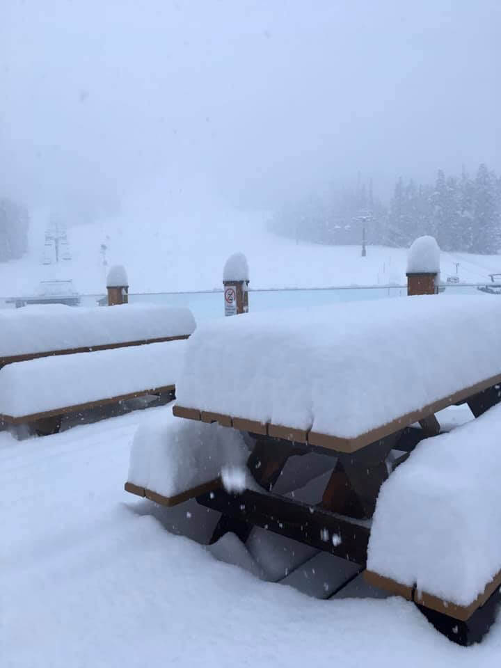 Snow accumulation at Lake Louise, Nov 2019