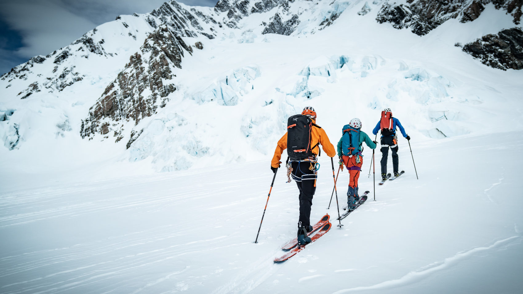 Skiing in the backcountry is committing.