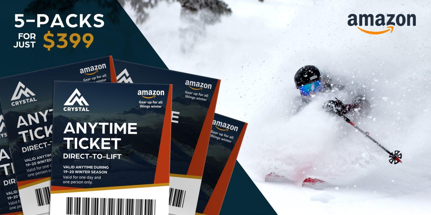 crystal mountain, amazon, lift tickets.