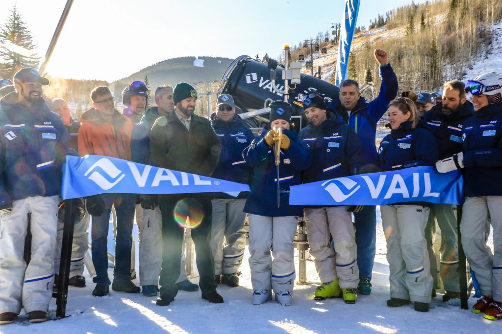 Opening day at Vail Mountain