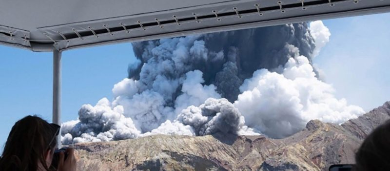 White Island Volcano just erupted.