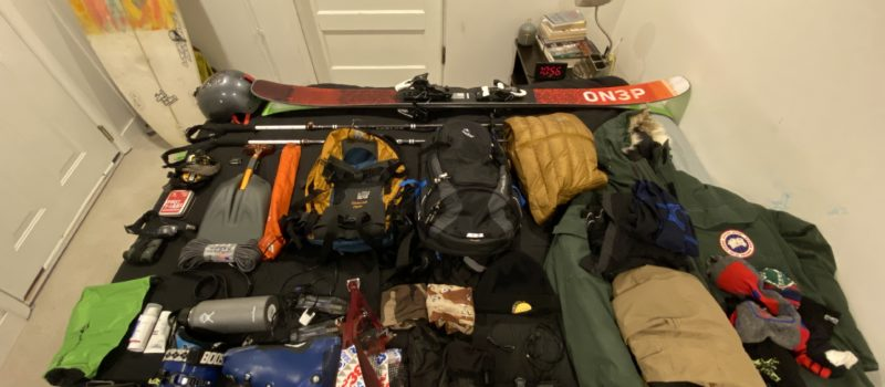 Gear for a ski trip