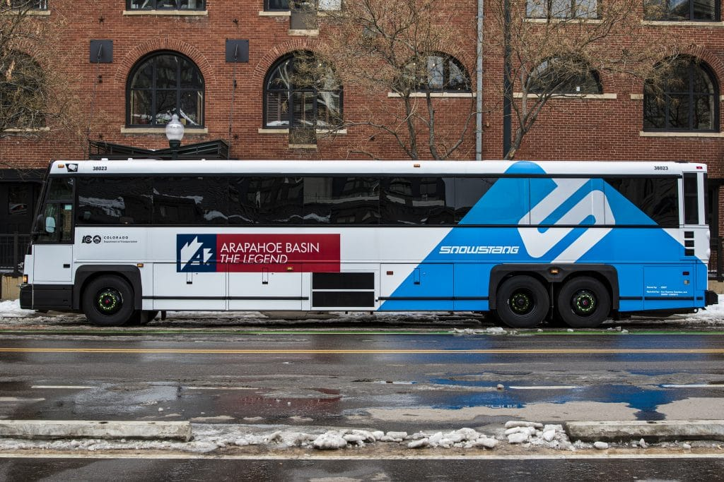 snowstang bus colorado denver grand junction