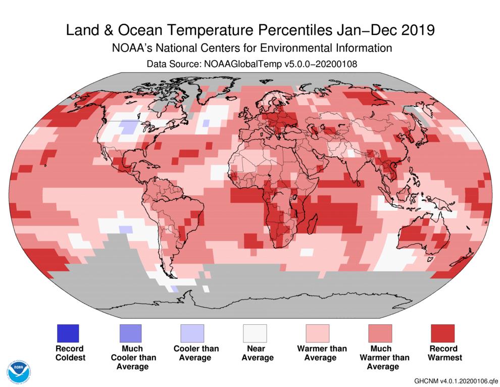 warmest decade, NOAA
