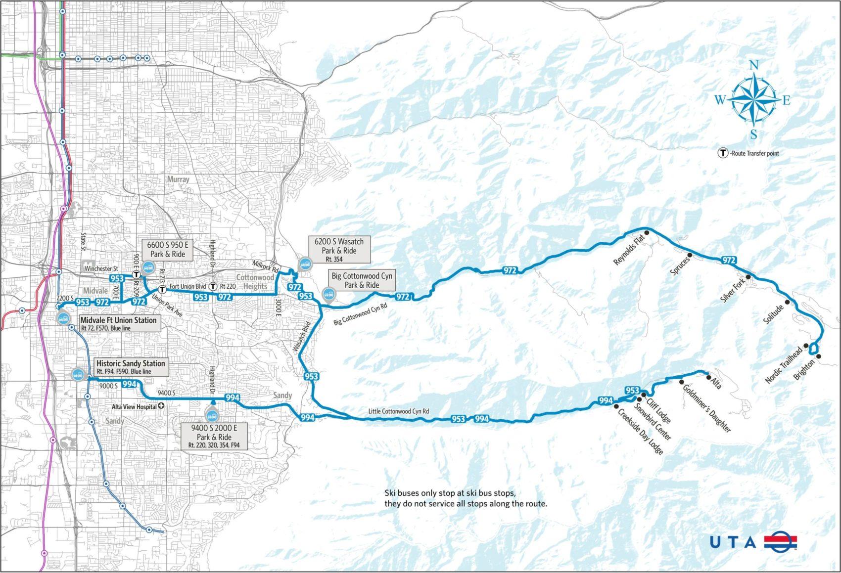 ski bus ikon pass map