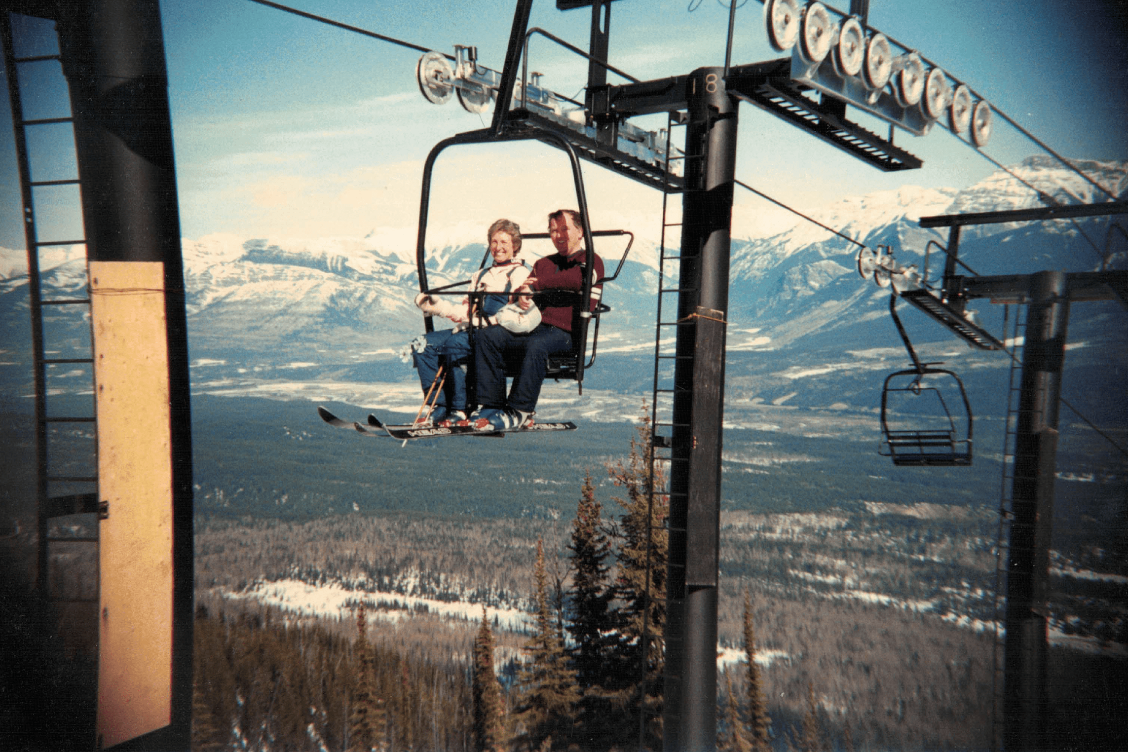 The original ski resort in Golden was serviced by one Pioneer chairlift and called Whitetooth Ski Area.