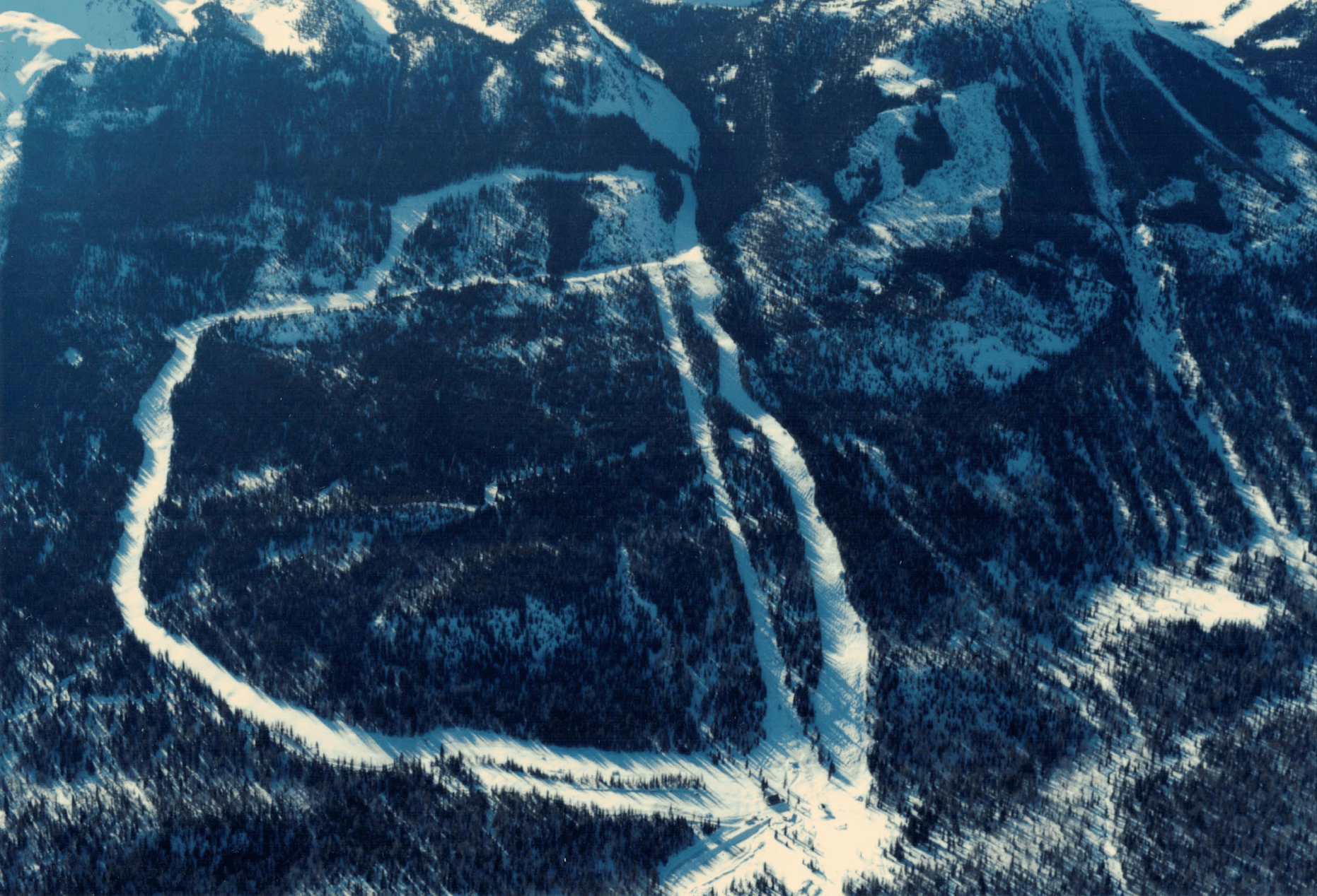The original Kicking Horse area was called Whitetooth Ski Area and only had three runs.