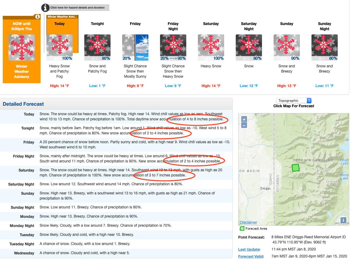 forecast, Wyoming,