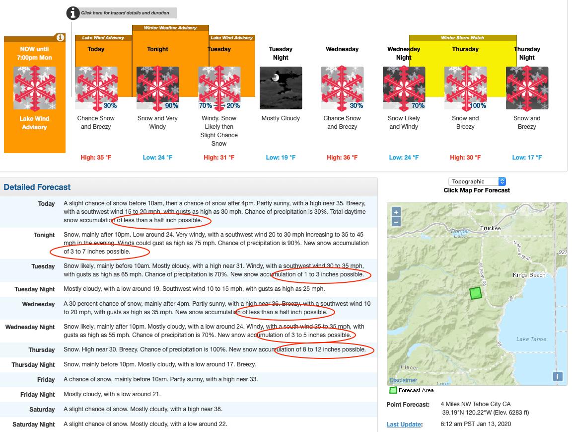 forecast, news, california, tahoe, squaw,