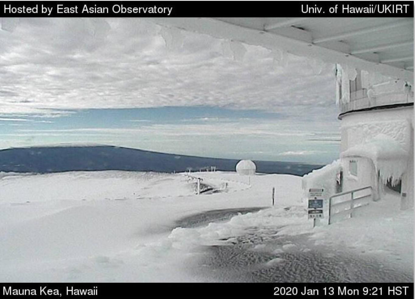 Winter storm in Hawaii