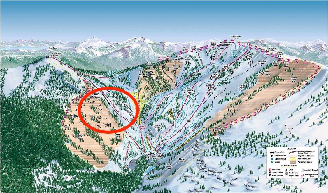 avalanche, alpine meadows, california