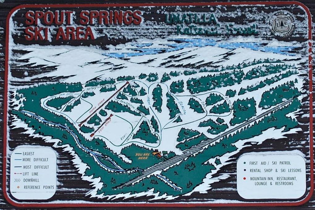 spout springs, oregon, trail map