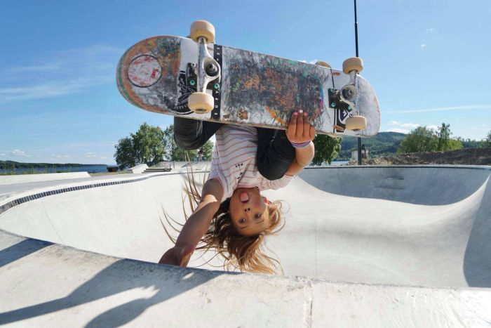 The Olympics has now added surfing and skateboarding to the Summer Games, and 11 year old Sky Brown hopes to complete in both events.