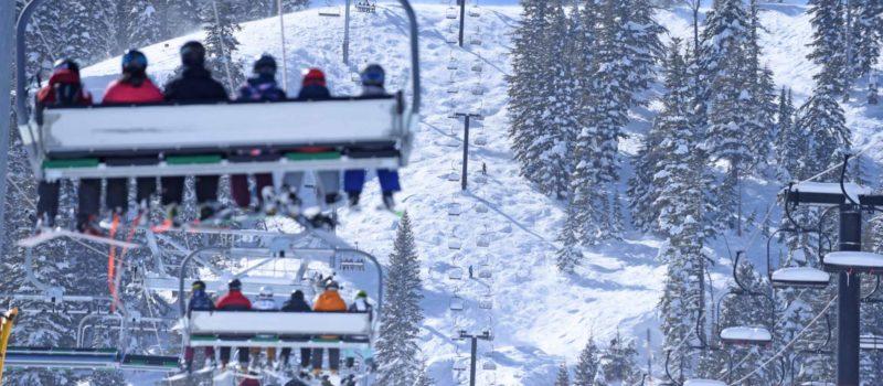 skiing at bear valley