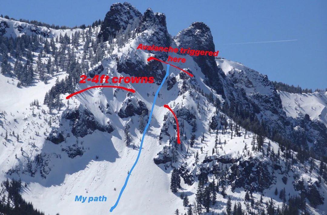 avalanche, Paulina Peak, oregon