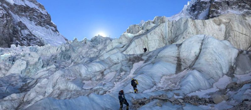 A group of climbers is attempting to summit Mount Everest during the winter for the first time since 1997.