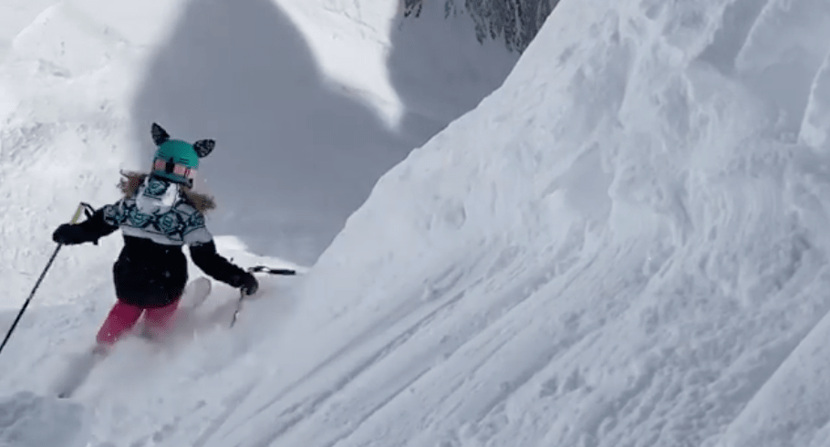 Jackson Hole, wyoming, corbets couloir,