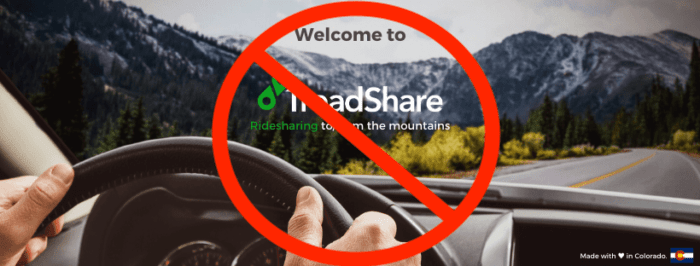 TreadShare, colorado, shut down