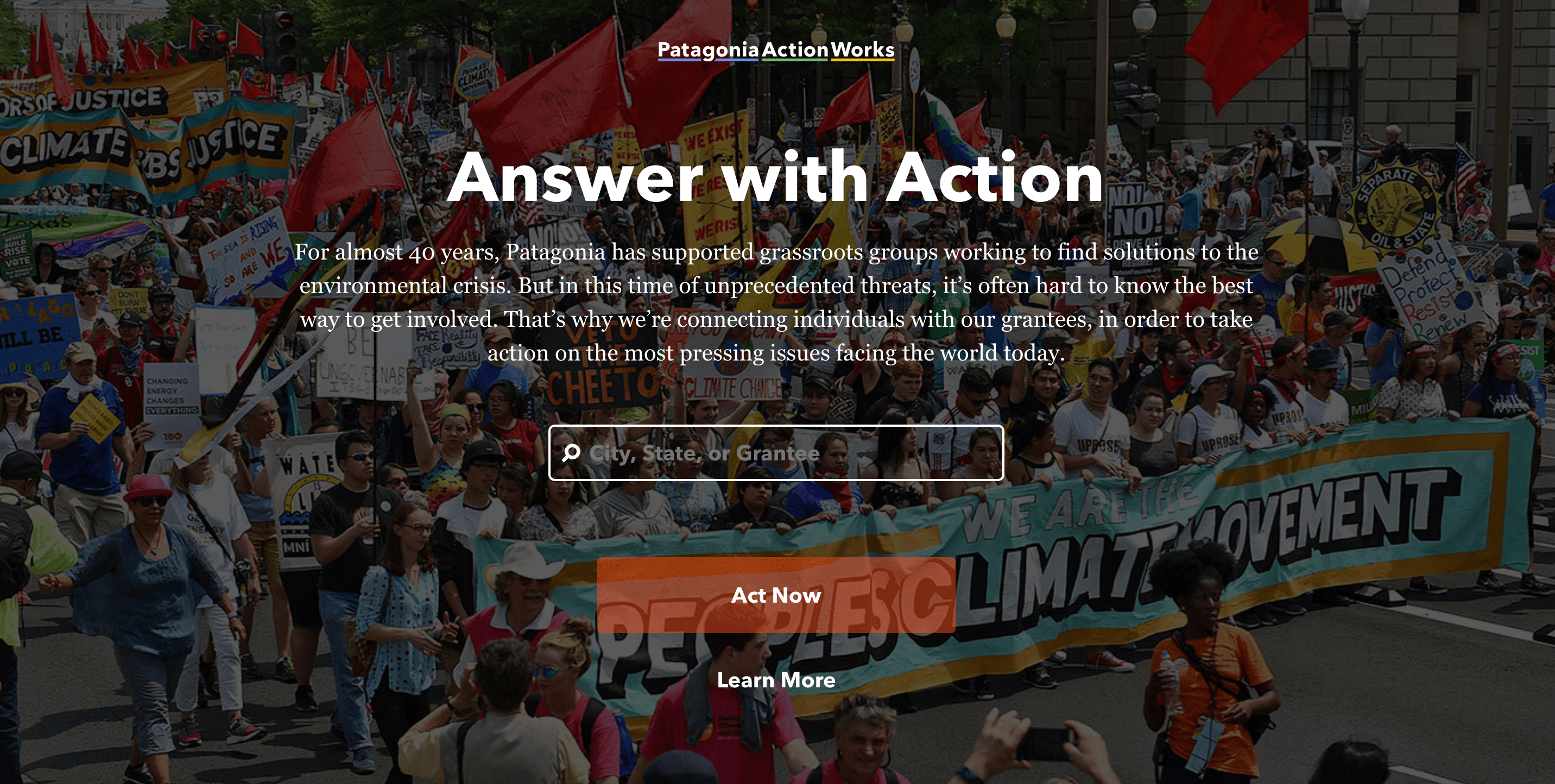 Patagonia Action Works is a great way for you to help your environment around you today.