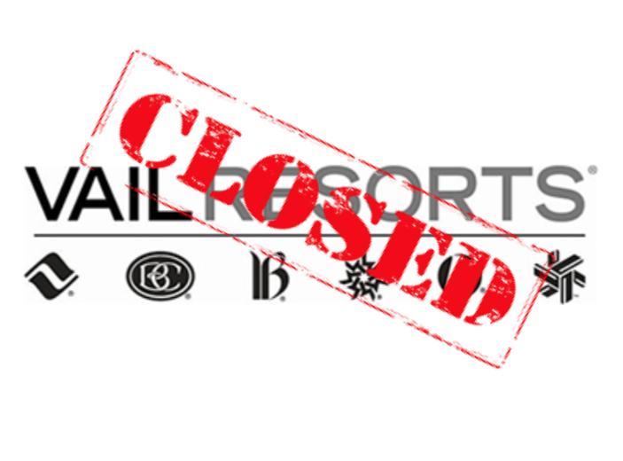 vail resorts, closed