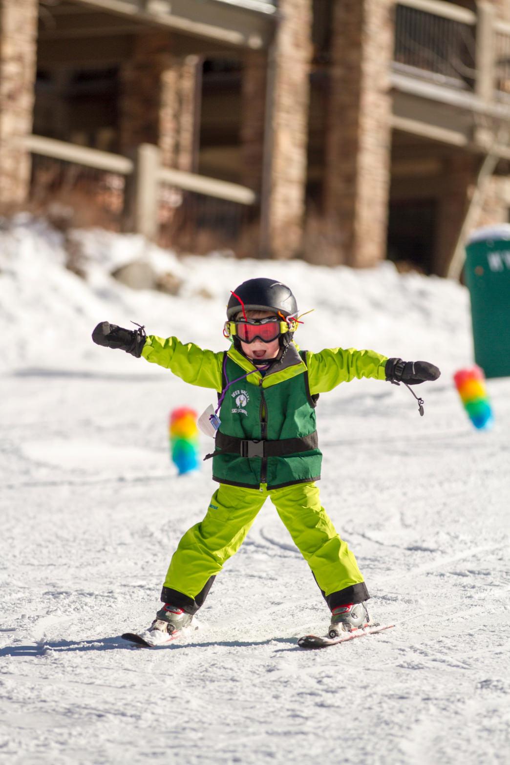 kids skiing at deer valley