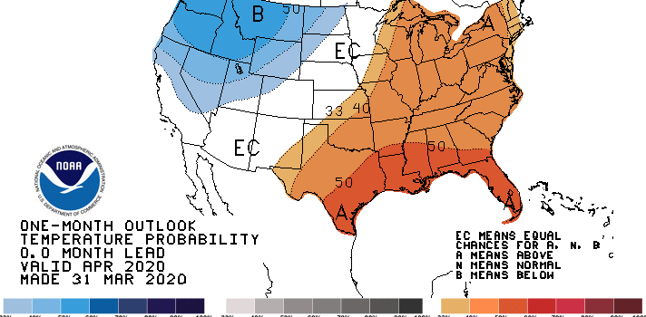 NOAA, April, outlook