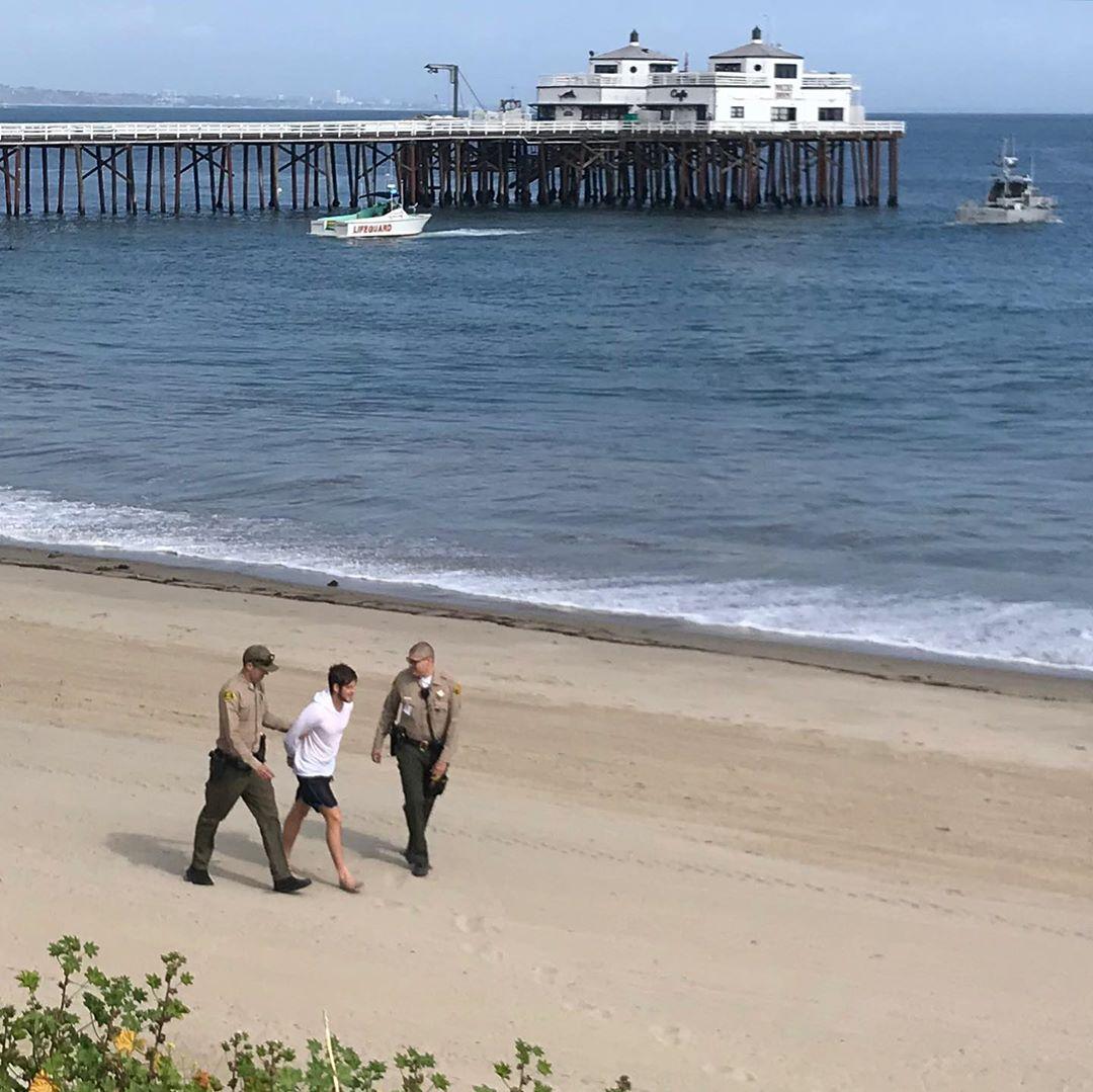 surfer, arrested, Malibu
