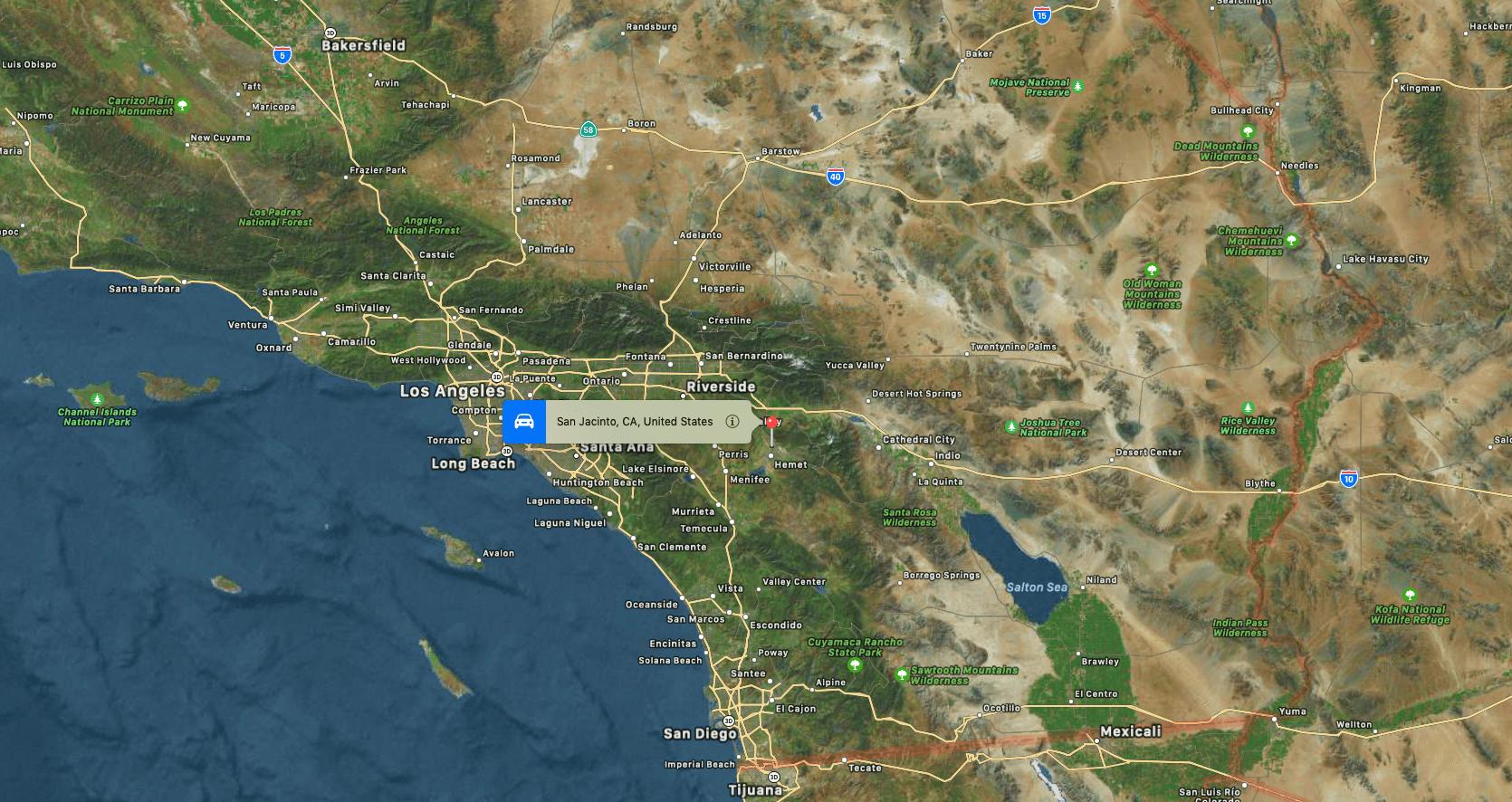 San Jacinto, Los Angeles, california