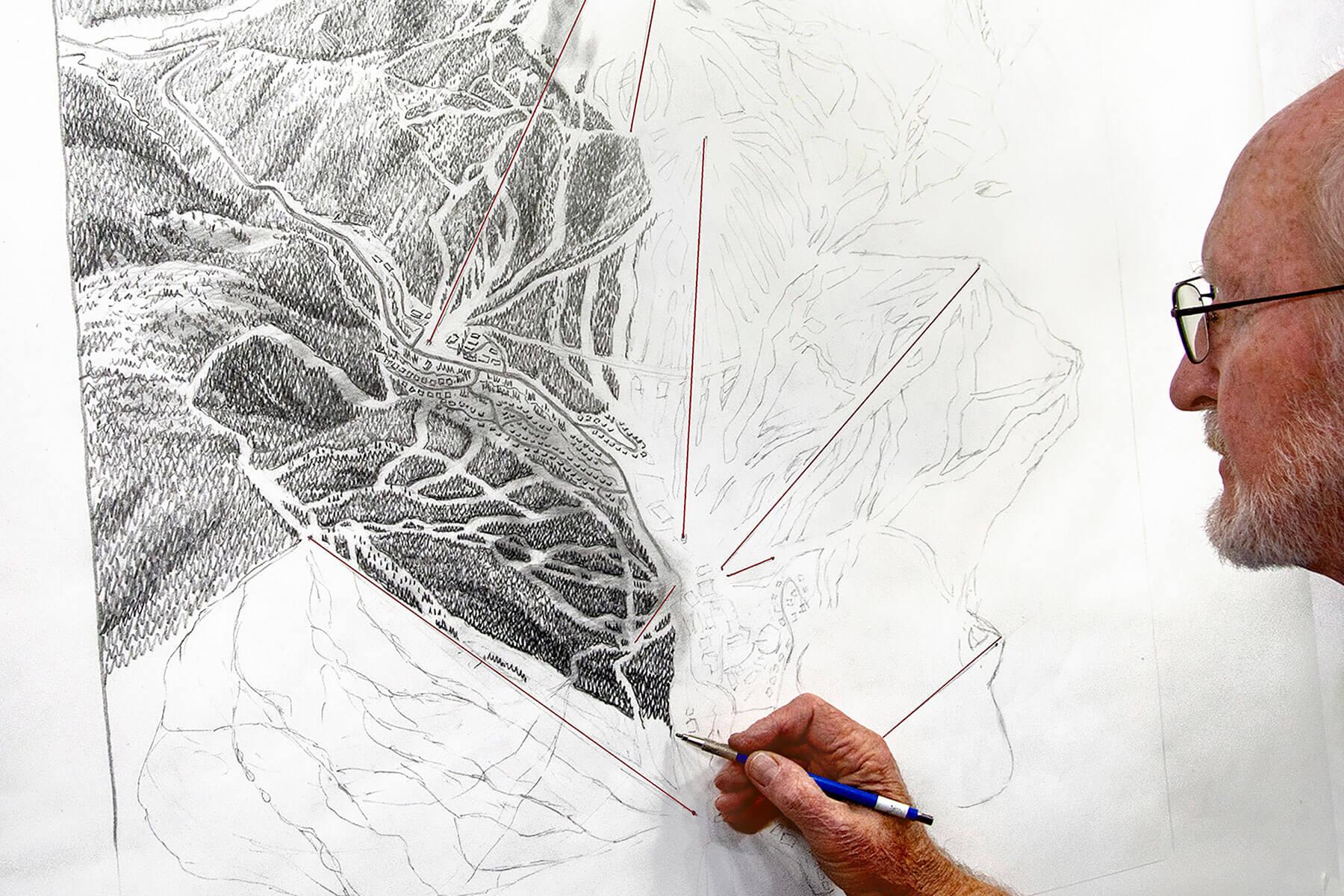 sun peaks resort, canada, trail map, James Niehues,