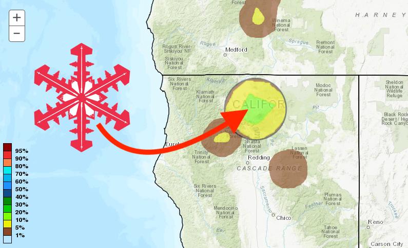 shasta, forecast, california