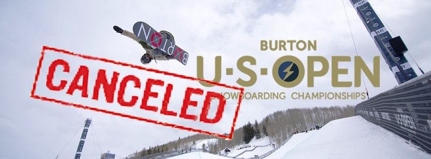 Burton, snowboards, canceled, us open snowboarding championships, snowboard