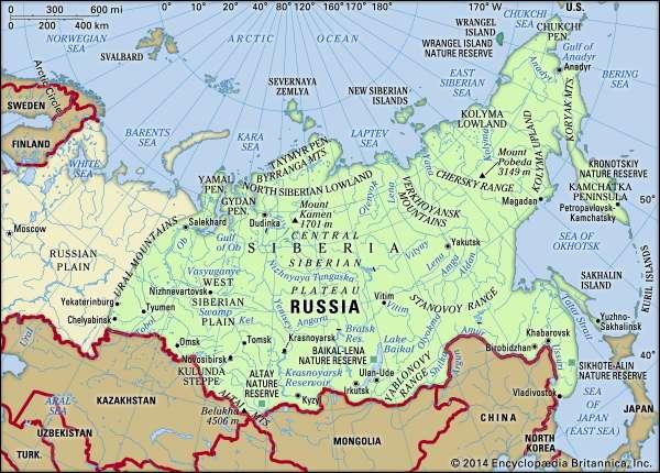 Map of Siberia